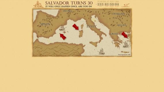 Salvadorturns30project screen1