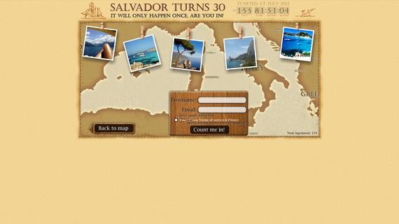 Salvadorturns30project screen2